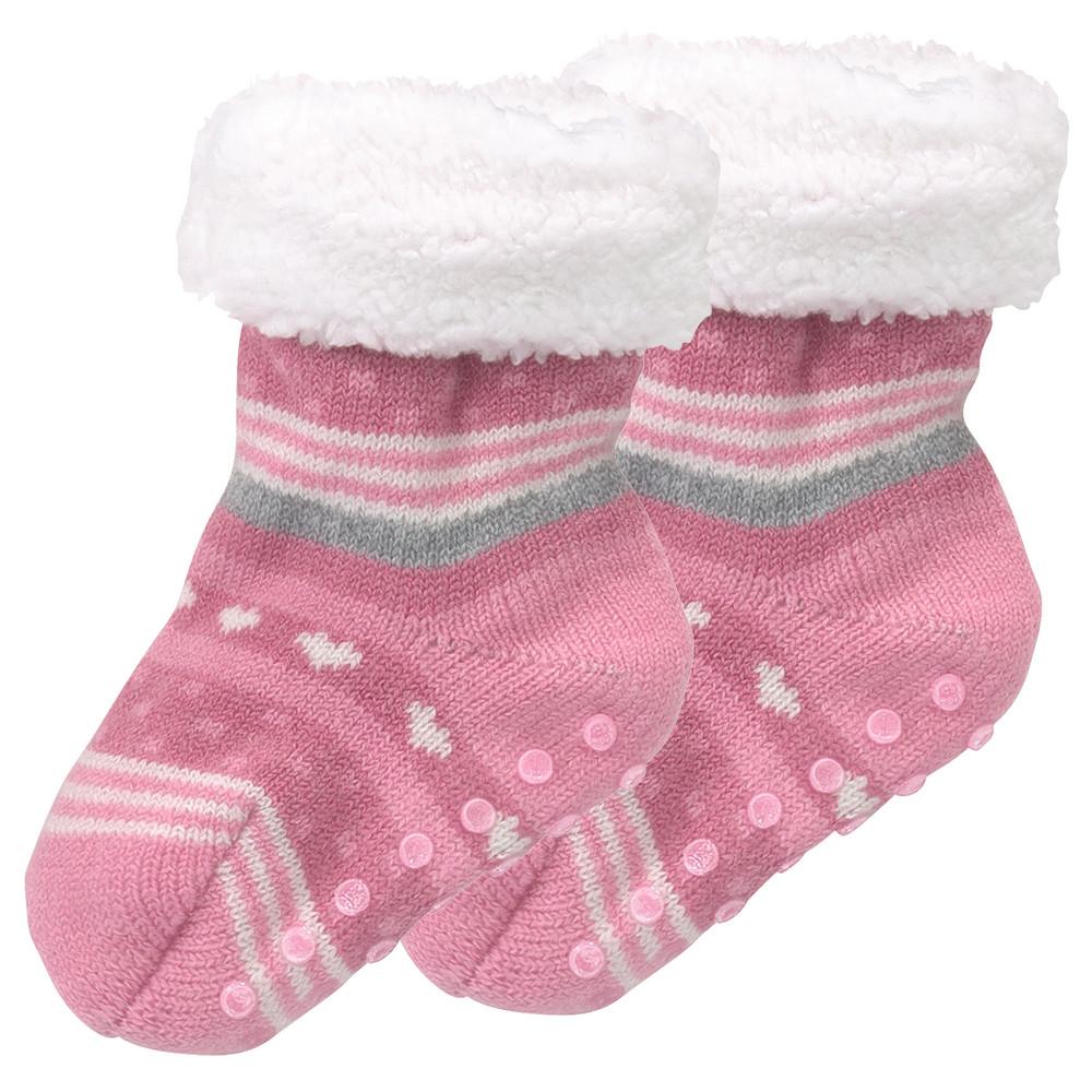 Baby Haussocken mit Wolle