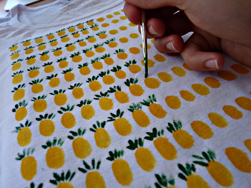 Ananas-Shirt grün