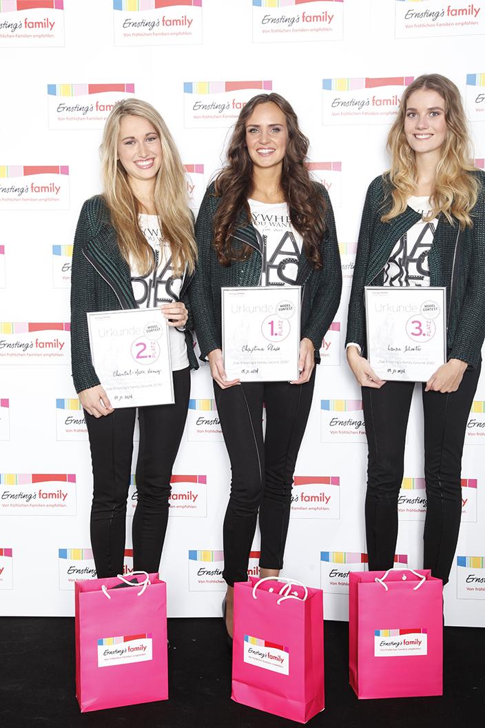Ernsting's family Gesicht 2015: Die Gewinnerinnen