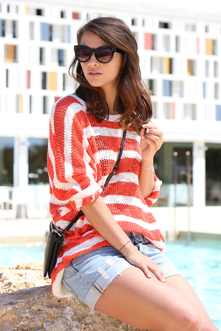 Sommer-Look, Blogger Event, Fashion Blogger, Trend, Ringelpulli, Oversize, oversized