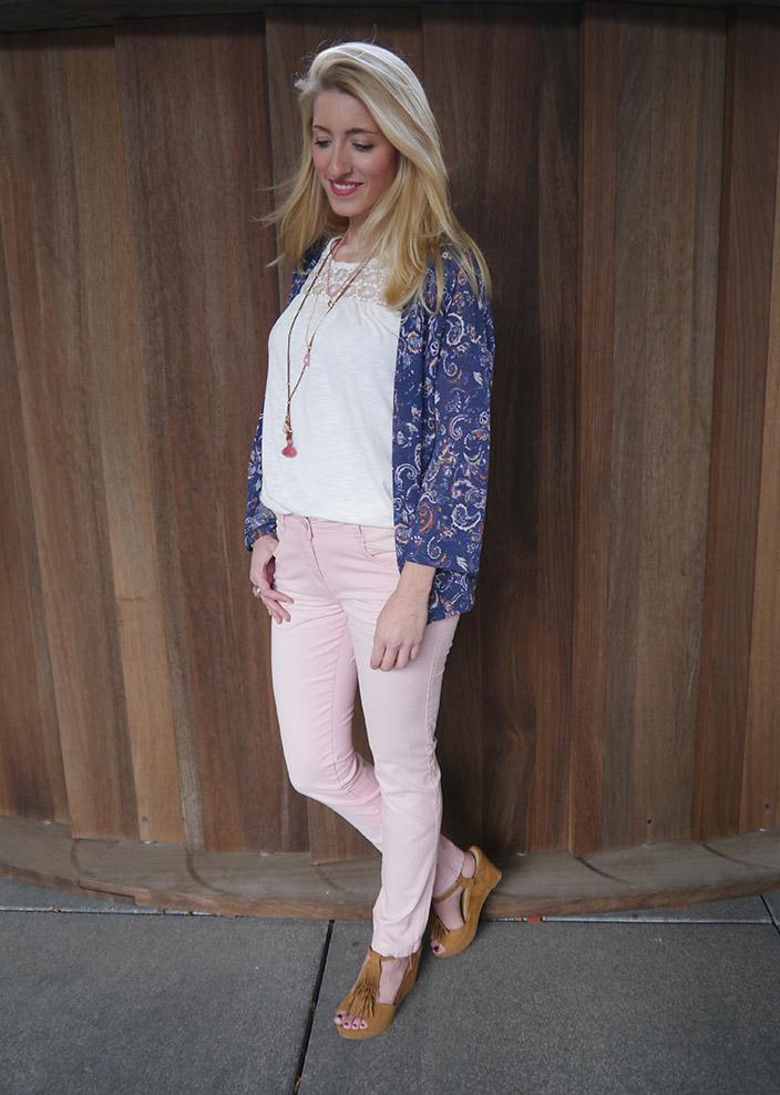 Lasst_euch_inspirieren – Der_ Bohemian_Style_Rosa Hose_und_Top_und_Kimono_Jacke