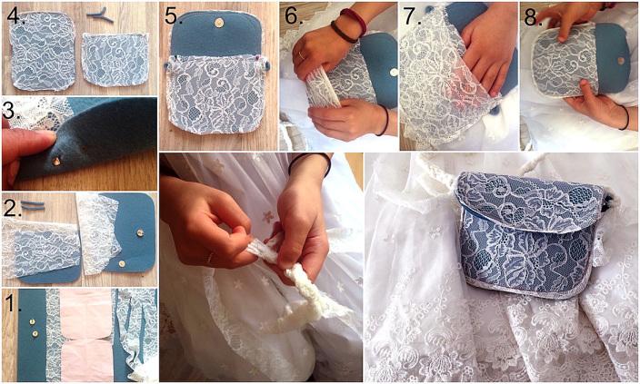So einfach kannst Du eine schicke Kindertasche nähen. Du brauchst nur Filz und Spitze. Anleitung mit Download für ein kostenloses Schnittmuster. Besonders süß sieht das kleine Täschchen zu einem Kleid aus. Die Anleitung findest Du in unserem DIY.