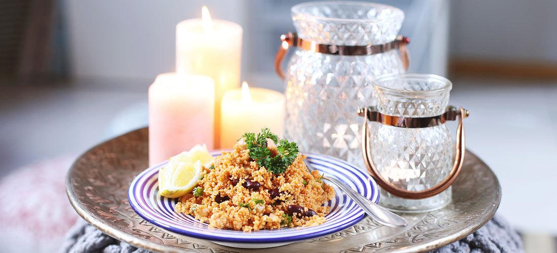 Couscous-Salat, Couscous-Salat Rezept, Orientalisch Kochen, Orient-Küche, orientalisches Rezept, Couscous-Salat mit Kichererbsen und Kidneybohnen