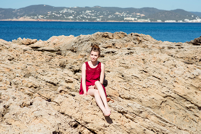 rotes Sommerkleid, Makramee-Spitze, Neele Schwalbe, Royalcoeur, Blogger Event. #ef_ibiza, Ernsting's family, Boho Look, Hippie, Ibiza