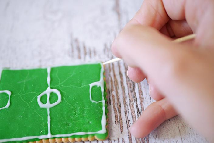 Fußball-Rezepte, Backen mit Kindern, EM-Rezept, Spielfeld-Kekse