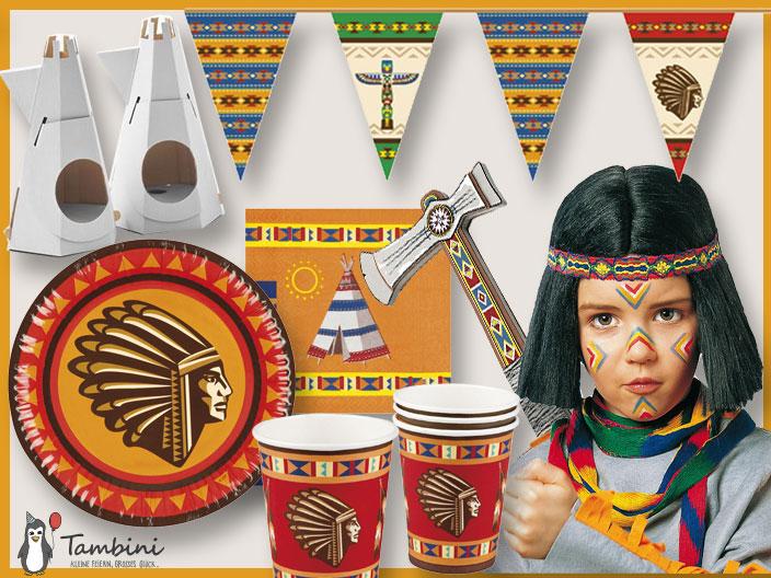 Indianergeburstag, Indianerparty, Kindergeburstag Indianer