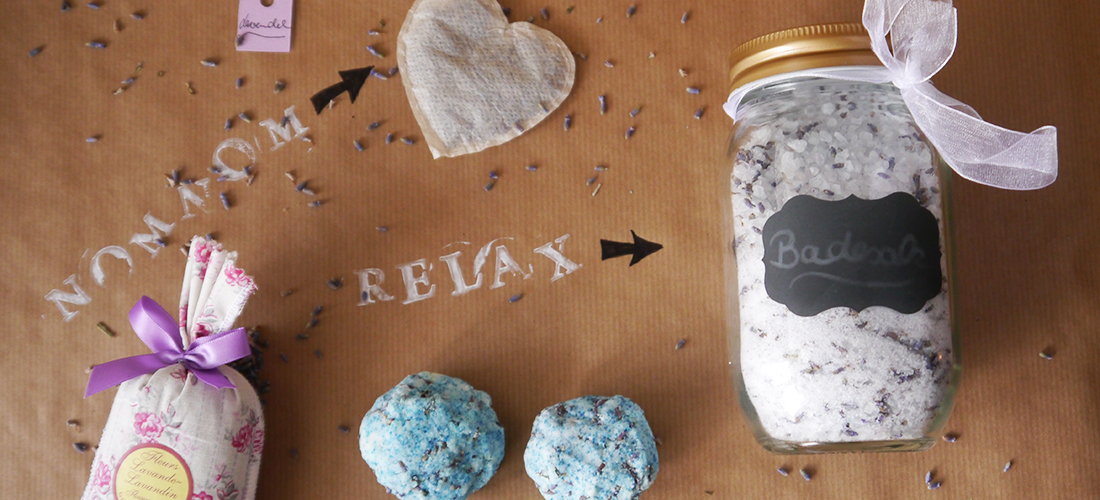 Badesalz selber machen, Anleitung Badesalz, selbstgemachtes Badesalz, Rezept, Lavendel-Badesalz