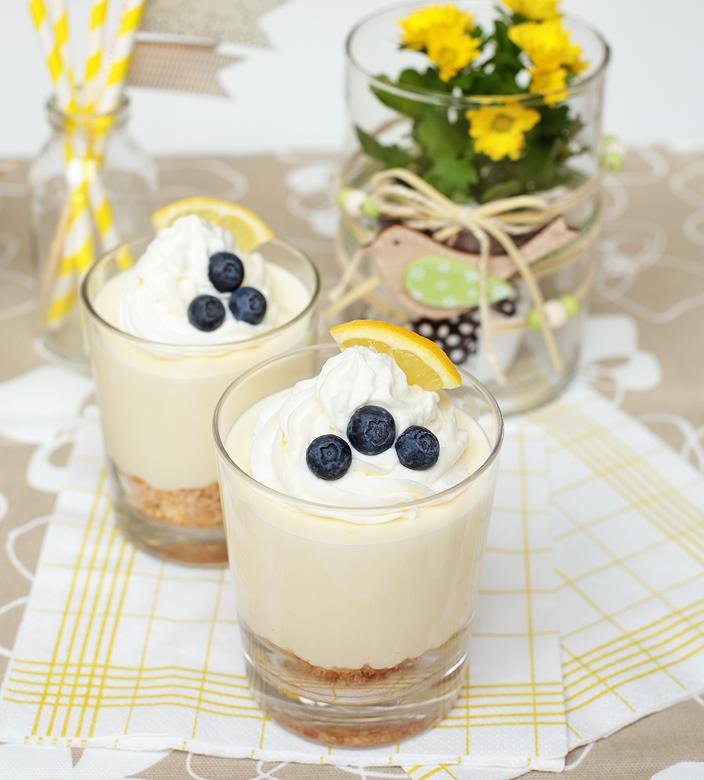 Zitronencreme, Nachtisch mit Zitrone, Dessert mit Zitrone, Rezept für Zitrone