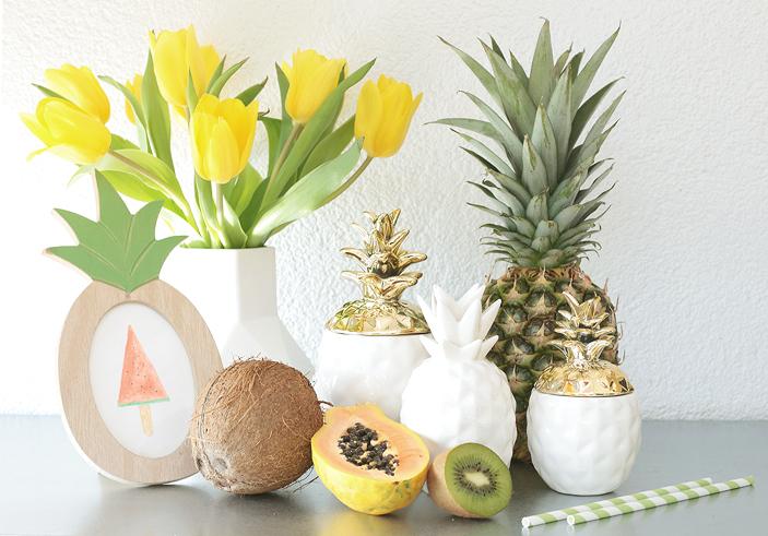 Obstsalat, Ananas, Kokos, Rezept, Kokossahne, Raffaelo, Ananas anpflanzen