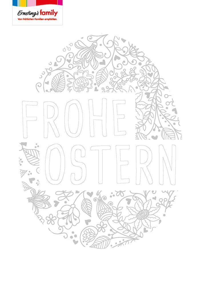 Malvorlage für Ostern: PDF zum Download