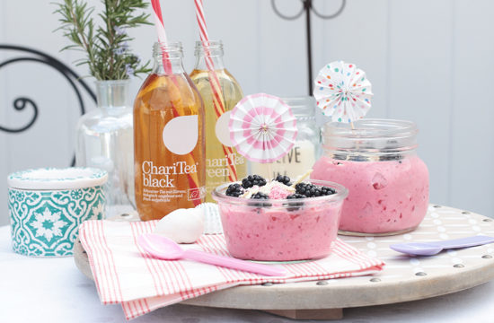 Frozen-Joghurt, Frozen Yogurt, Rezept, Frozen-Joghurt selber machen, Himbeere