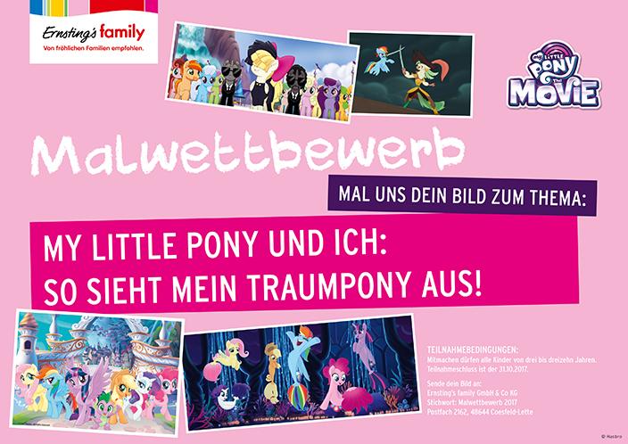 My little Pony, My little Pony Malwettbewerb, Ernsting's family Malwettbewerb, Malbogen