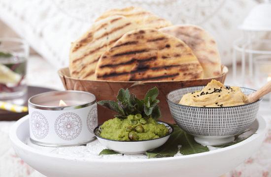 Faldenbrot selber amchen, Hummus, Fladenbrot, türkisch kochen, Rezept