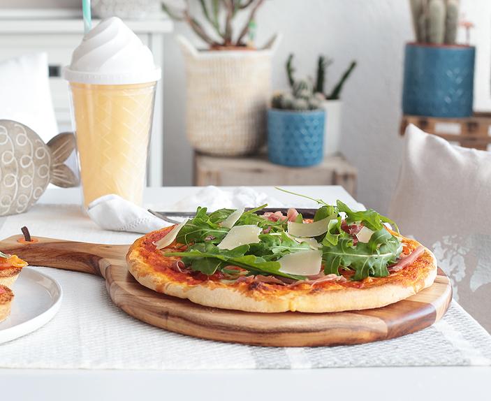 Antipasti-Gerichte, Pizza Parma, Pizza Rucola