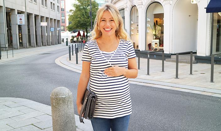 Erste Schwangerschaft, Schwangerschaft, Gina Mama, Umstandsmode, Schwangerenmode, Babybauch, Ernsting's family
