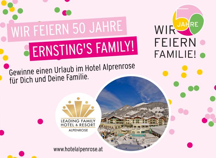 Ernsting's family, Wir feiern Familie, Jubiläum, minipreis, miniladen, Ernsting's miniladen, 50 Jahre Ernsting's family, 50 Jahre