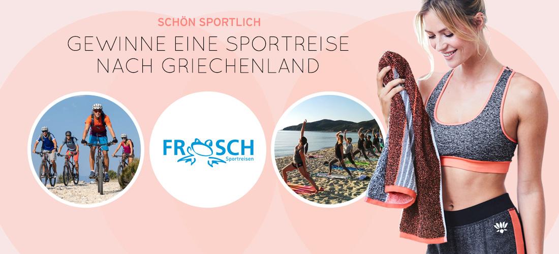 Sportreise, Frosch-Sportreisen, Ernsting's family, Gewinnspiel, Griechenland