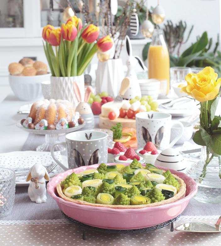 Ostern, Brunchen, Frühstücken, Osterbrunch, Rezepte, Rezeptideen, Tarte, Dekorieren, Frühling,