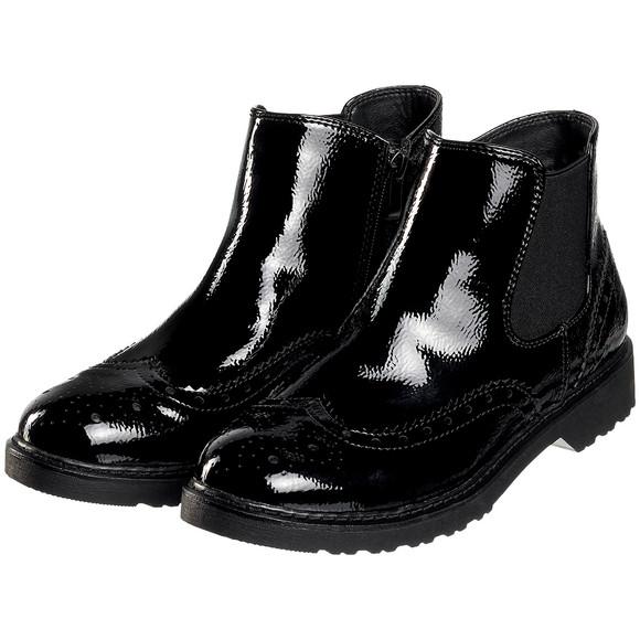 new product e01d3 c43cb Damen Chelsea-Boots in Lack-Optik | Ernsting's family