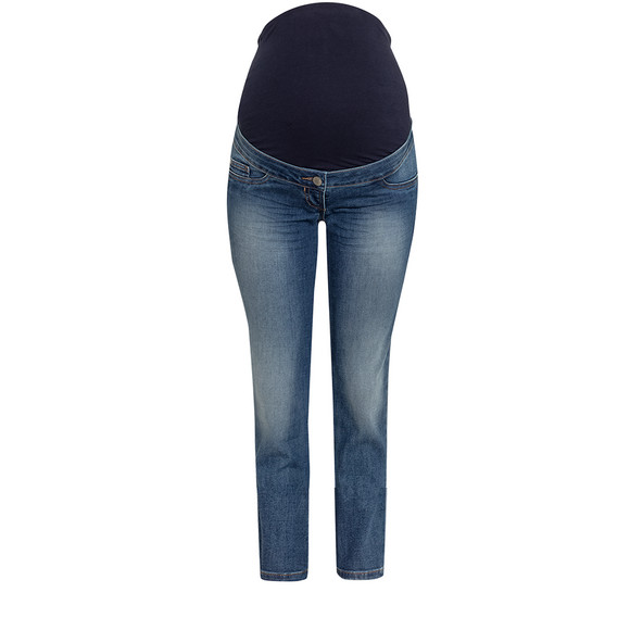 7/8 Damen Umstands-Slim-Jeans