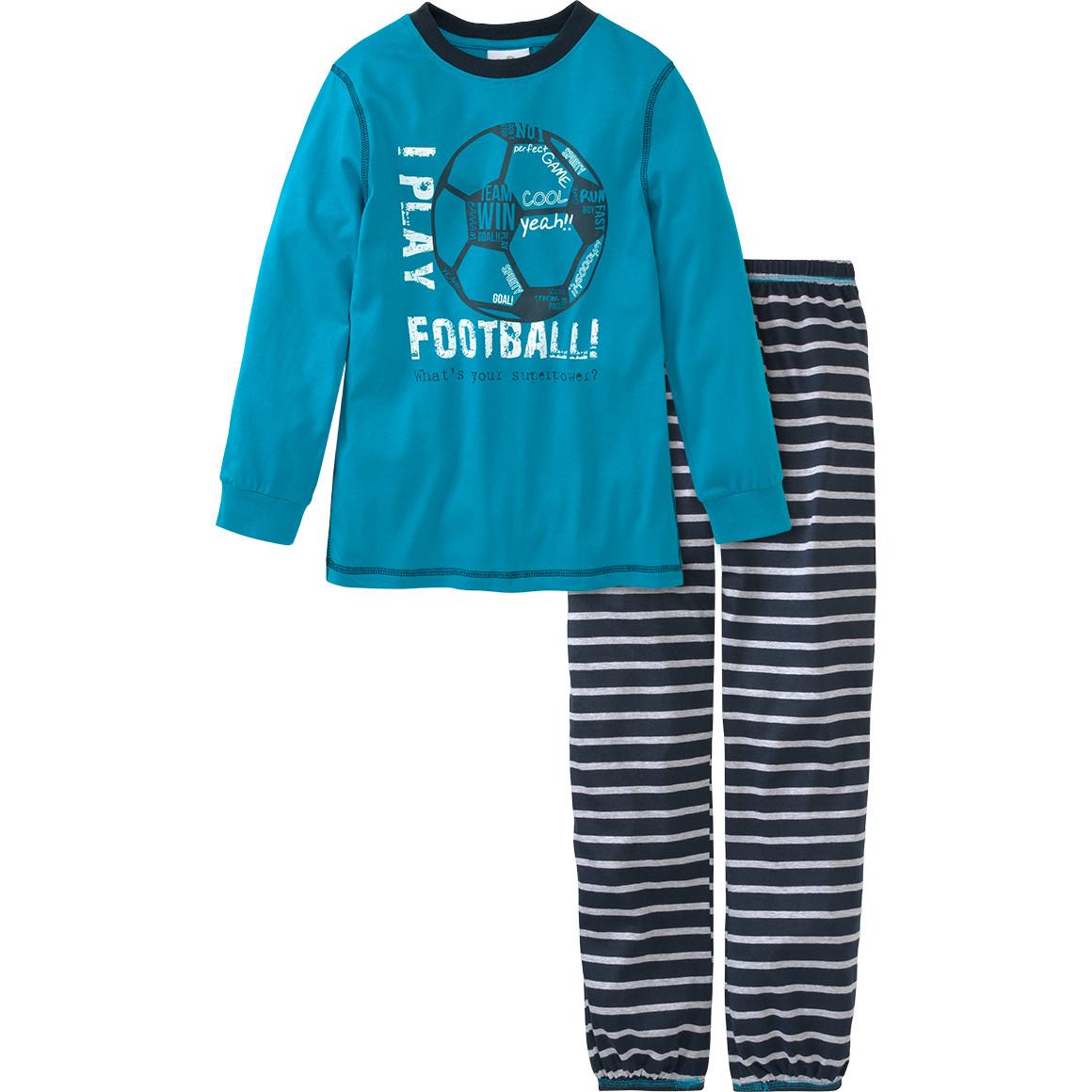 Jungen Schlafanzug mit Fußball Print