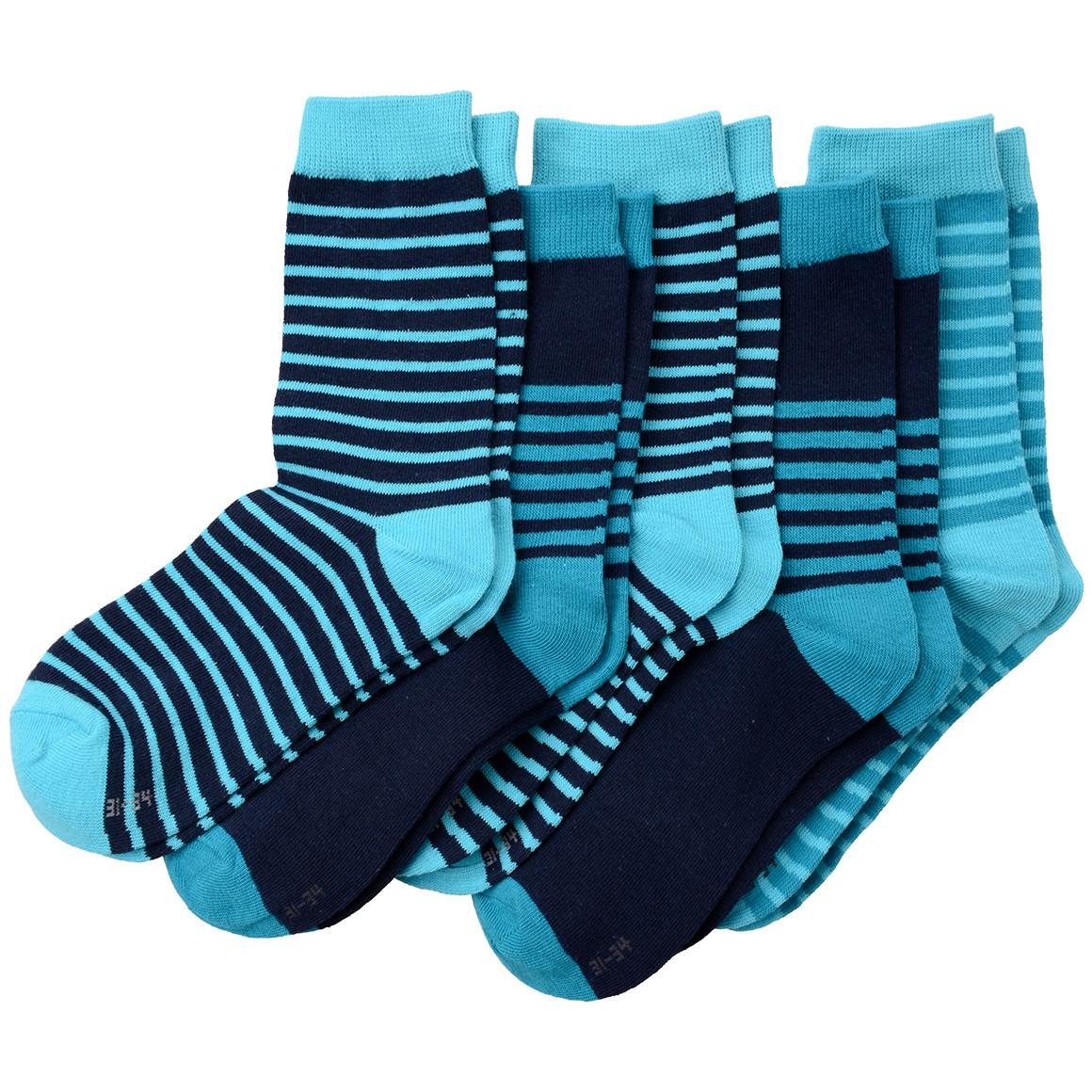 5 Paar Jungen Socken im gestreiften Design