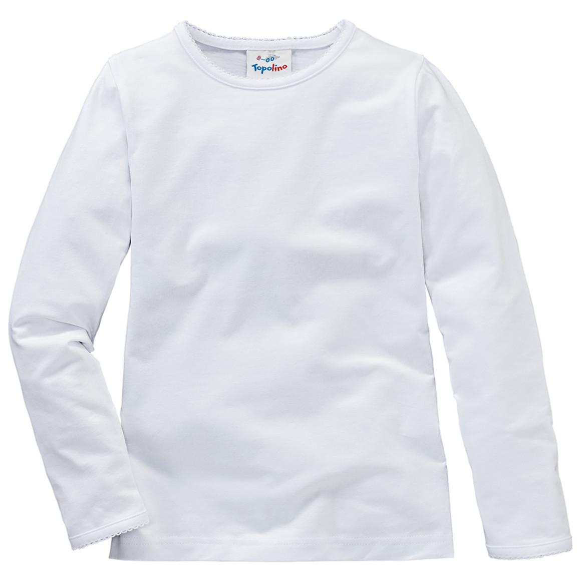 Minigirloberteile - Mädchen Langarmshirt in Weiß - Onlineshop Ernstings family