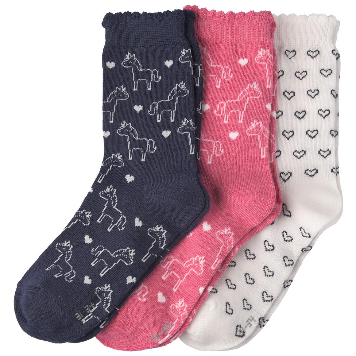 3 Paar Mädchen Socken