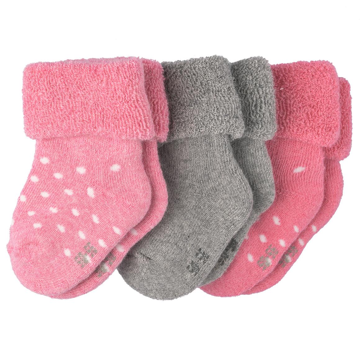 3 Paar Baby Socken mit Umschlagsbund