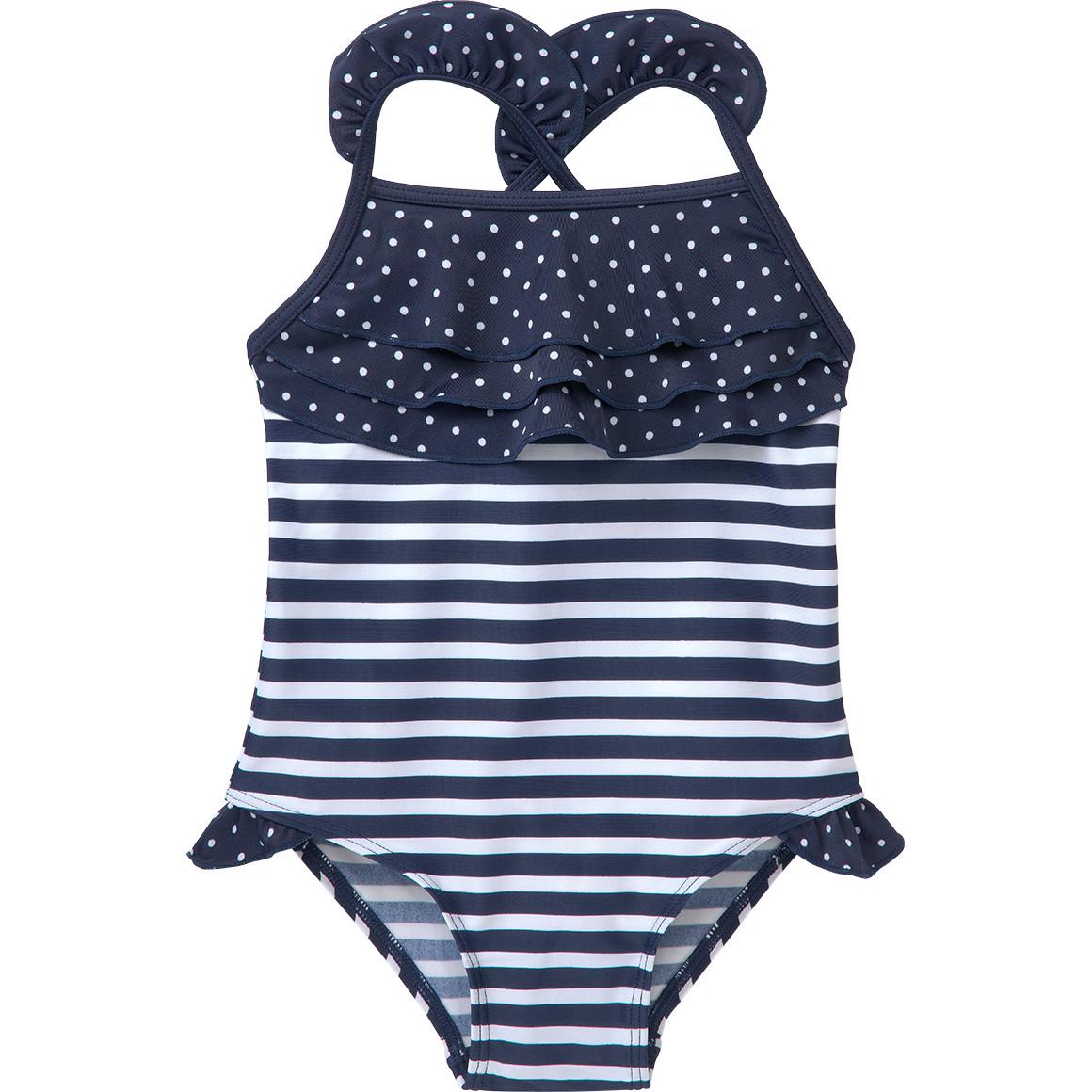Baby UV Badeanzug mit Rüschen