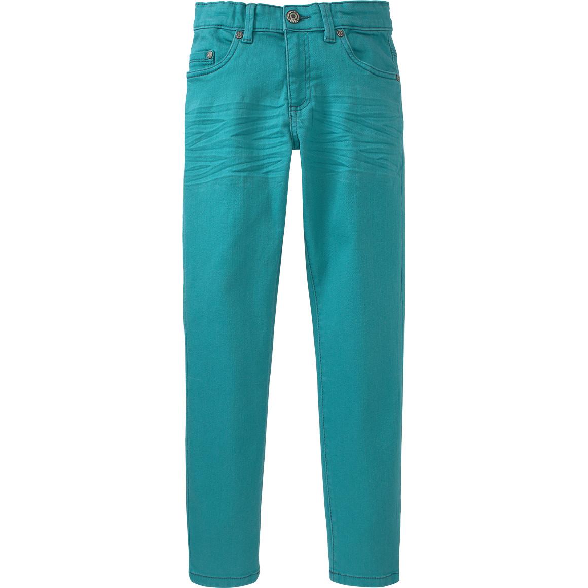 Jungen Hose aus türkisem Jeansstoff