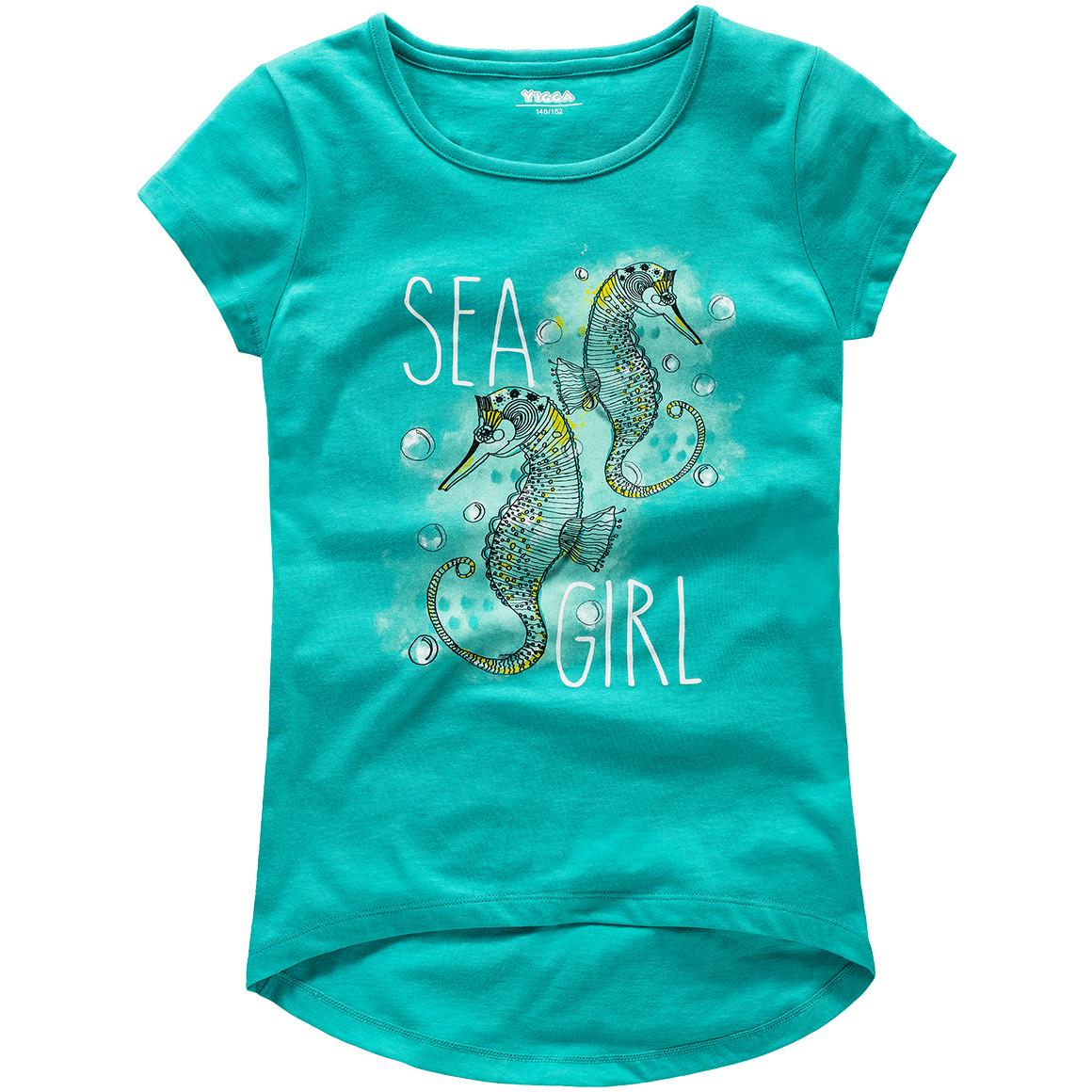 Mädchen T-Shirt mit Seepferdchen Motiv