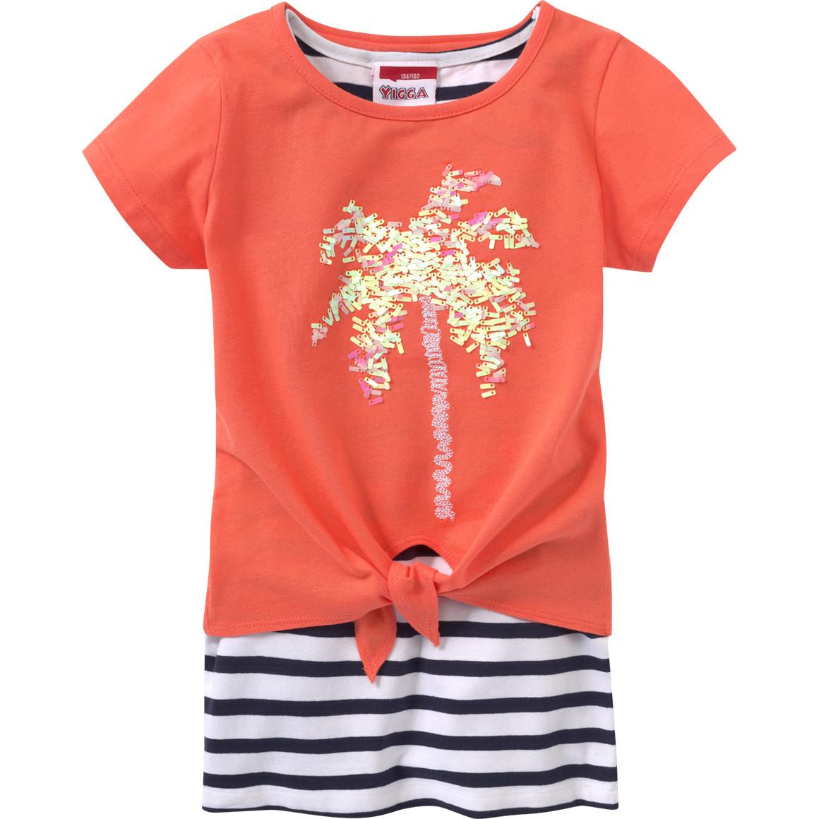 Mädchen T-Shirt und Top mit Pailletten