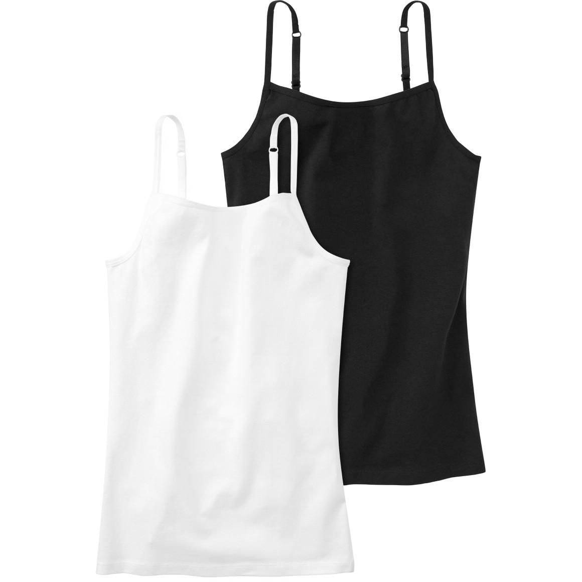 2 Mädchen Unterhemden im Set