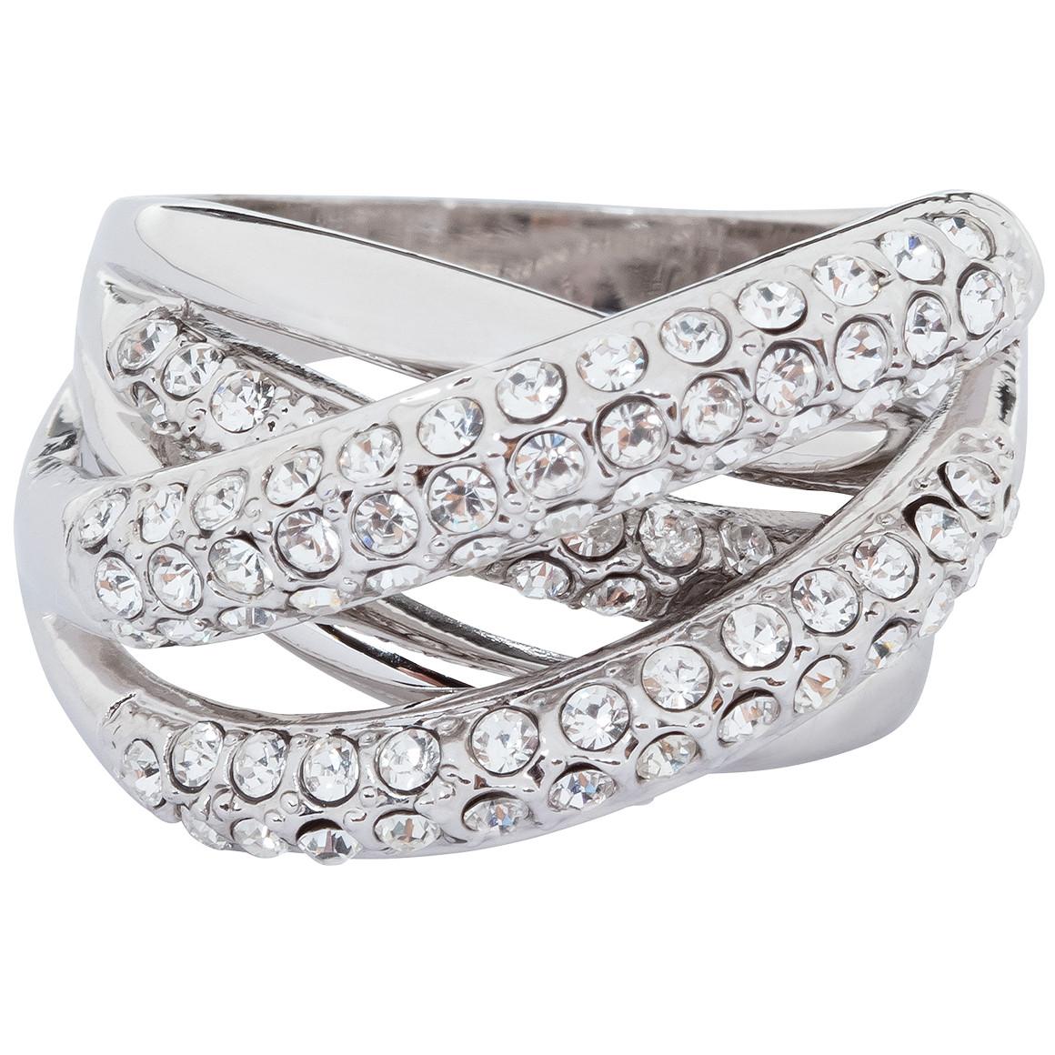 Damen Ring mit Glitzersteinchen jetztbilligerkaufen