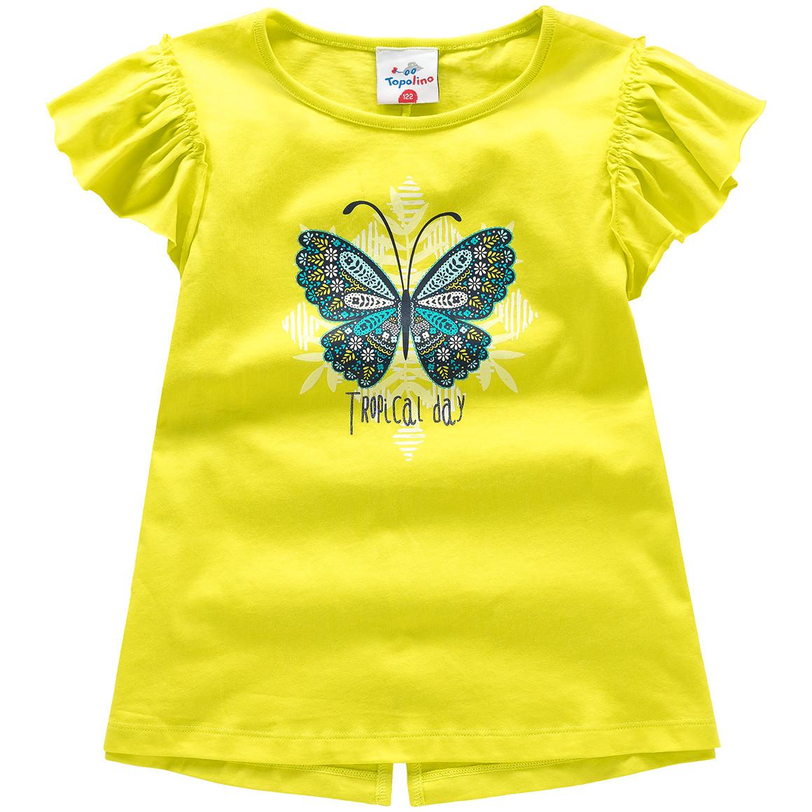 Mädchen T-Shirt mit Rüschenärmeln