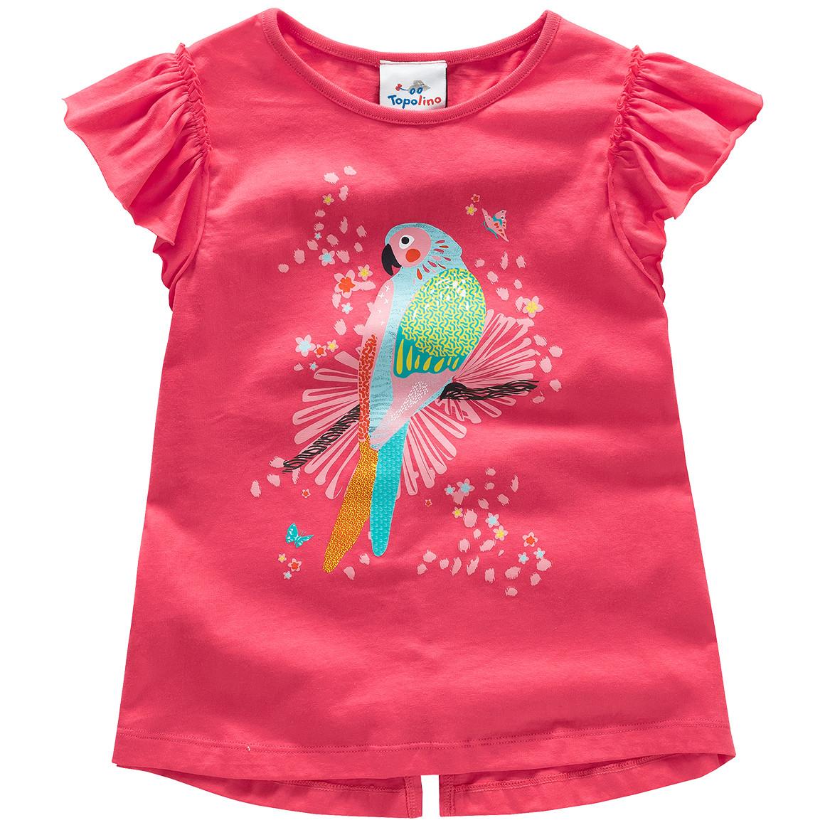 Mädchen T-Shirt mit Papagei Motiv