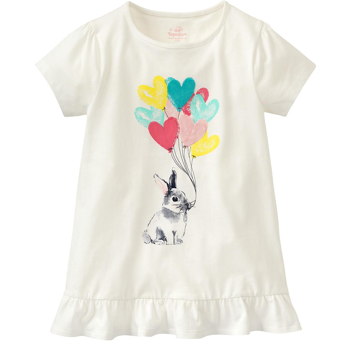 Mädchen T-Shirt mit Hasen Print
