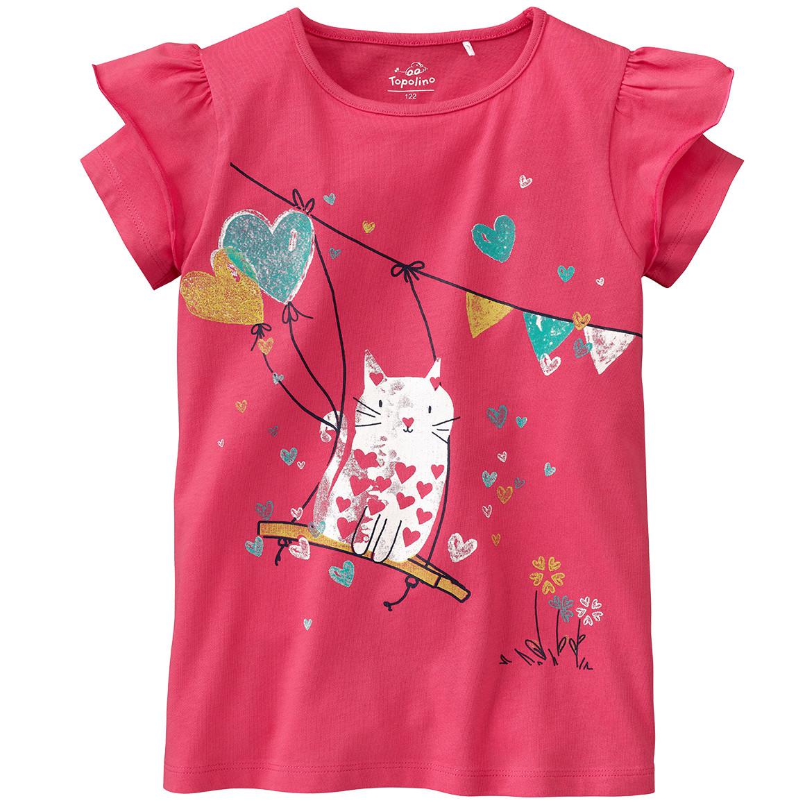 Mädchen T-Shirt mit Katzen Motiv