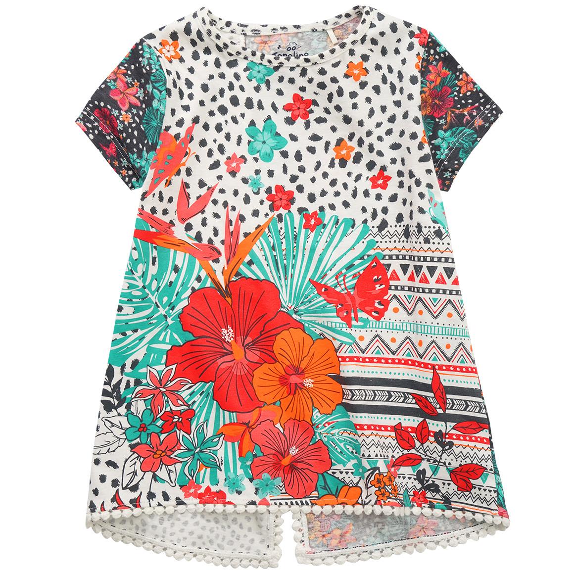 Mädchen T-Shirt mit Muster Mix