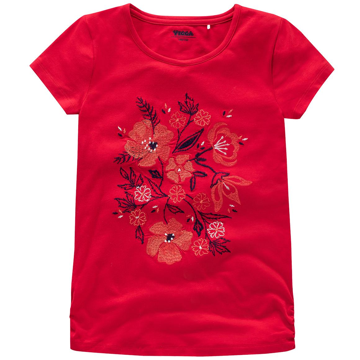 Mädchen T-Shirt mit Stickerei