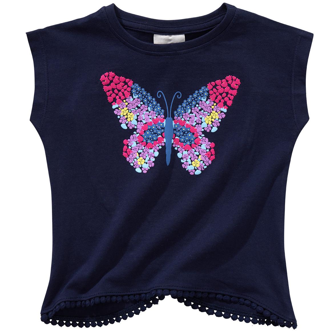 Mädchen T-Shirt mit Schmetterlingsprint
