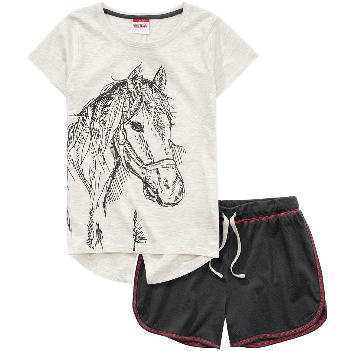 Mädchen Shorty mit Pferde Print