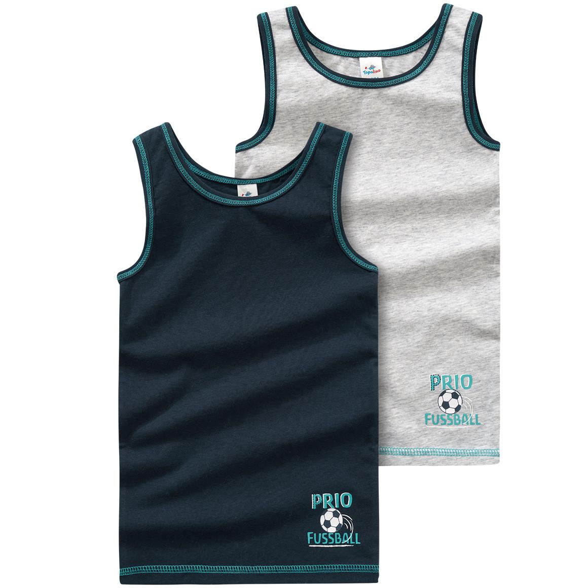 2 Jungen Unterhemden mit Fußball Print