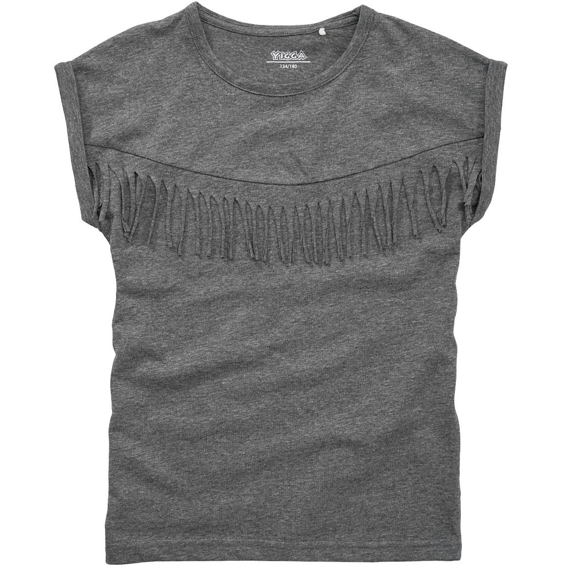 Mädchen T-Shirt mit Fransen