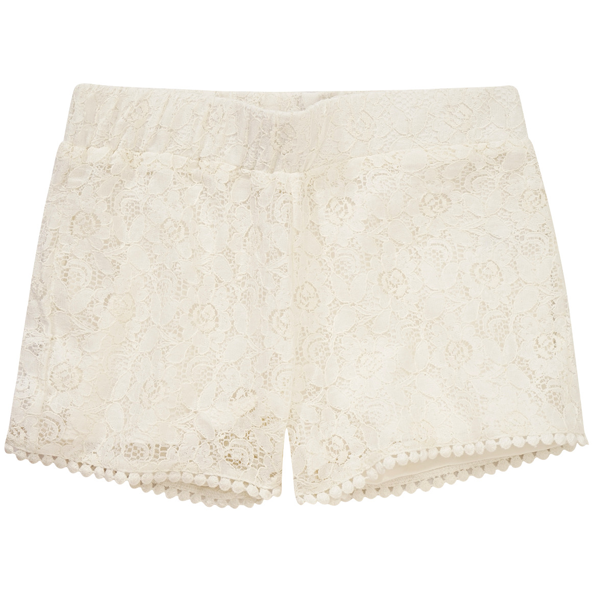 Mädchen Shorts mit Makramee Spitze