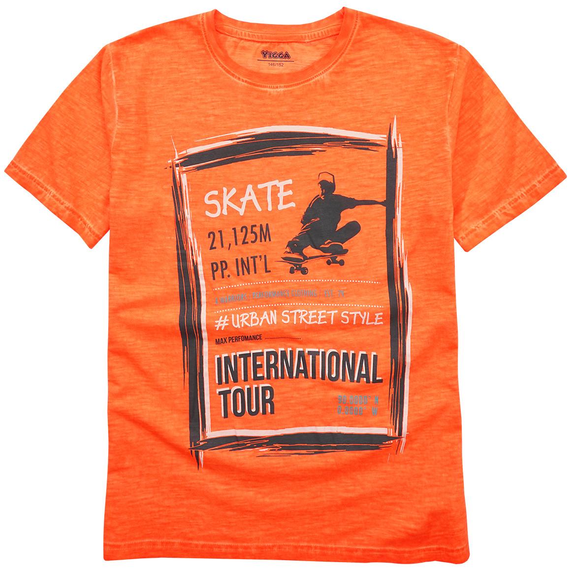 Jungen T-Shirt mit Oil Washed Effekt