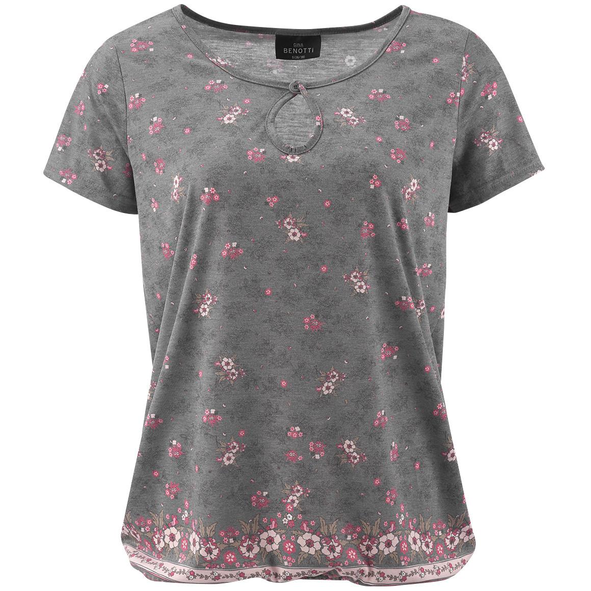 Damen T-Shirt mit Blumenprint jetztbilligerkaufen