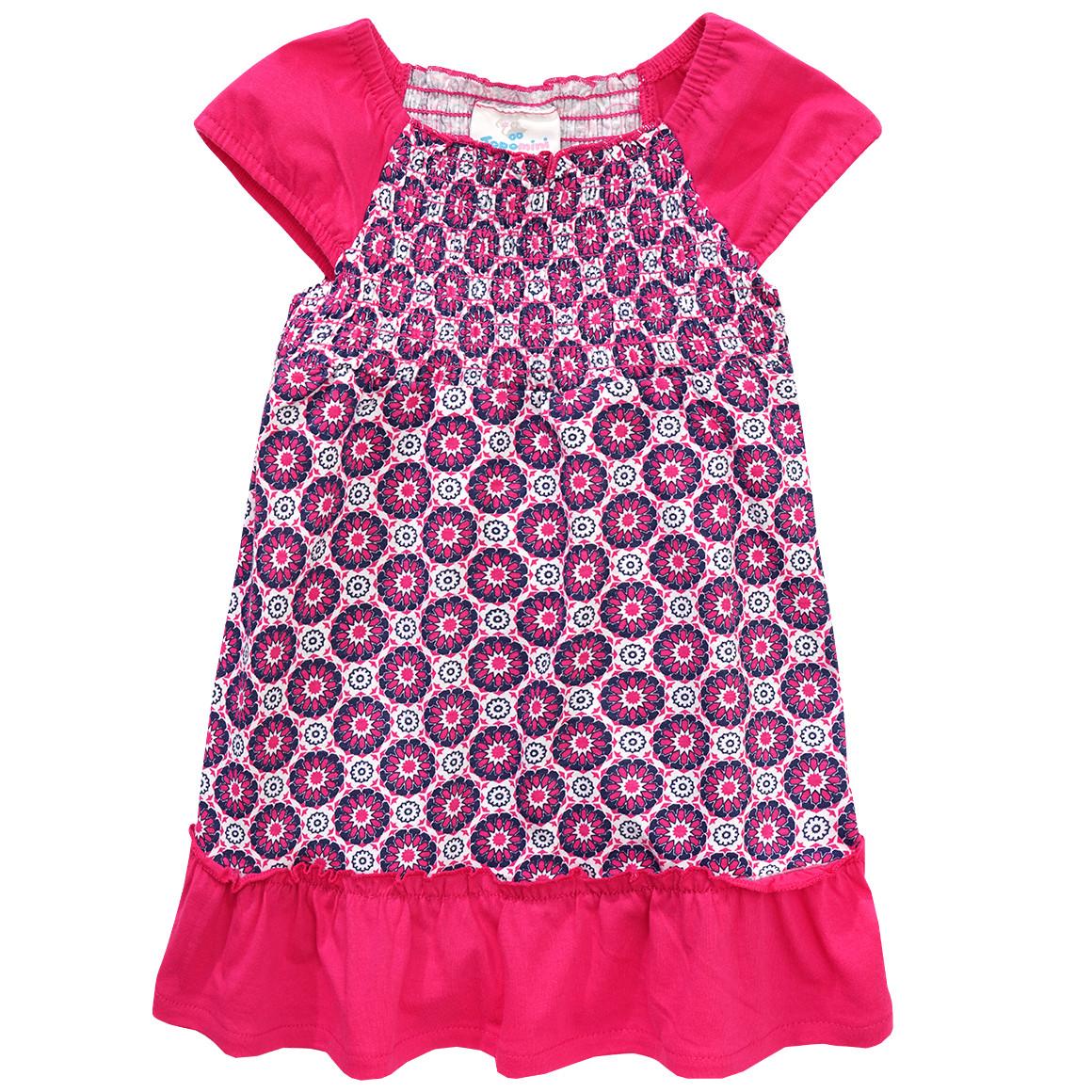Baby Kleid mit geschmocktem Oberteil