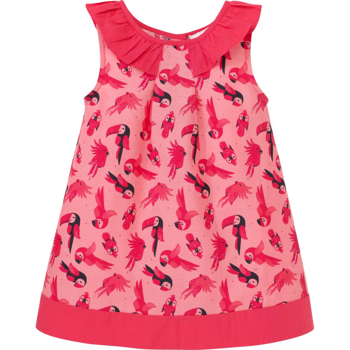Baby Kleid mit Papageien Motiven